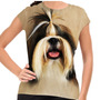 Camiseta Cachorro Shih-tzu Forelock Baby Look