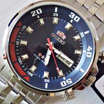 Orient Automático Esporte 21 Jewels Aço Calendário 469ss058