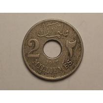 Egito) 2 Milliemes - 1917 = Escassa