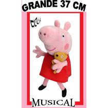 Pelucia Peppa Pig Musical Grande 37cm De Altura Linda E Fofa