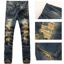 Calça Jeans Destruida Dolce & Gabbana Pronta Entrega