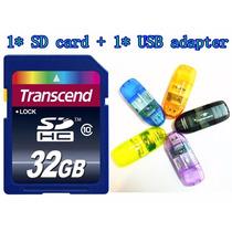 Cartão Memória 16gb Classe 10 Transcend + Adaptador Pendrive