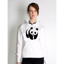 Moletom Blusa Canguru Panda Feminino