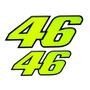 Kit 2 Adesivos 46 Valentino Rossi Resinados Alto Relevo
