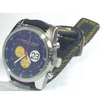 Relógio Porsche Design 23 P6612 Preto Amarelo 50mm