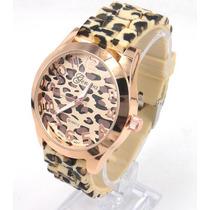 Relógio De Pulso Geneva Leopardo