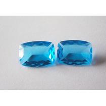 Frete Grtais - Cristal Topazio Azul - 14 X 10 - 2 Pedras.