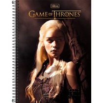 Caderno Espiral Tilibra 10 Mat 200 Folhas Game Of Thrones