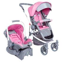 Carrinho Aluminio Bebê Conforto Moisés Travel System C/ Base