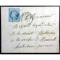 França 1 8 6 8 Carta Circulada Napoleão 29b Tipo Ii Carimbos