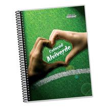 Caderno Univ. Capa Dura Branco/verde 20x1 400folhas- Pct. 02