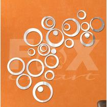 Espelho Adesivo 3d - Bolhas 24pcs - Decoração Criativa