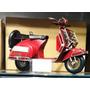 Miniatura Metal Artesanal Retro Moto Vespa Lambreta Vermelha