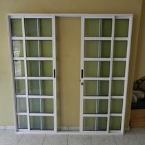 Porta Sacada Trav. 4.fls De Alum 2.10 X 1.50 Branca L-25