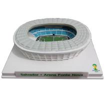 Mini Estádio Arena Fonte Nova Maquete Em Resina Copa 2014