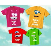 Kit Familia Camisetas Personalizadas Super Wings