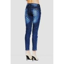 Calça Jeans Feminina Marca Famosa - Matelassê Skinny Tm 40