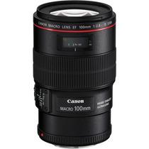 Lente Canon Ef 100mm F/2.8l Macro Is Usm Pronta Entrega +nfe