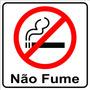 Adesivo Nao Fume Proibido Fumar 10x10 Frete Gratis