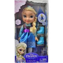 1036 Disney Frozen Boneca 15 Luxo Elsa Com Patins