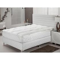 Pillow Top 100% Fibras Siliconizadas Solteiro 88x188x07cm