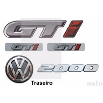 Kit Emblemas Gol Quadrado Gti - Até 1994 - Modelo Original