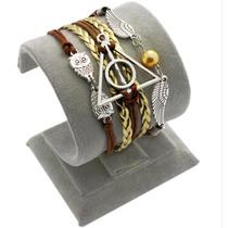 Pulseira Bracelete Harry Potter Relíquias Coruja + Frete