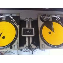 Par Toca Discos Technics Sl 1200 Mk2 + Cases + Ortofons