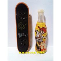 Mini Garrafa Da Galera Coca Cola Skatista + Miniatura Skate