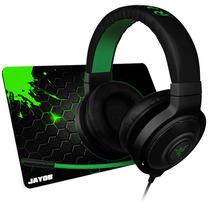 Fone Razer Kraken Pro Black Headset + Mouspad Jayob Grátis