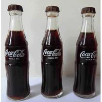 Mini Garrafas De Vidro Coca Cola Antigas E Caixas !!!