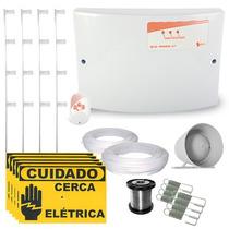Kit Cerca Elétrica C/ Setor De Alarme P/ Até 50 Mts + Brinde