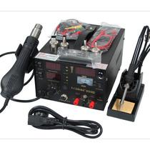Saike 909d 3-1 Estação Solda Retrabalho Ar Quente E Dc Power