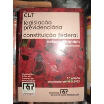 Livro Clt - Legislação Previdenciaria/constituição Federal