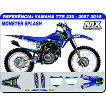Adesivos - Ttr 230 2007 2016 -monster Splash - Qualidade 3m