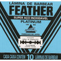( Gilete ) Feather Cartela C/60 Lâminas De Barbear