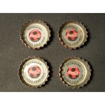 4 Tampinhas Antigas Promoção Futcards Coca-cola
