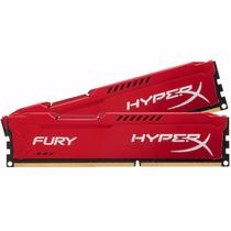 Memória Gamer Kingston Hyperx Fury Ddr3 4gb Vermelha Genuína