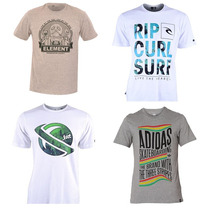Kit 10 Camisetas - Quiksilver Hurley Volcom Lacoste Rip Curl
