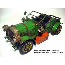 Réplica Carro Antigo Estilo Artesanal Rústico Vintage Cr101