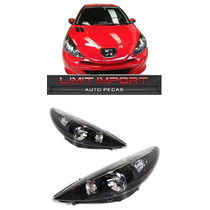 Par Farol Peugeot 207 09 10 11 12 13 14 15 Mascara Negra