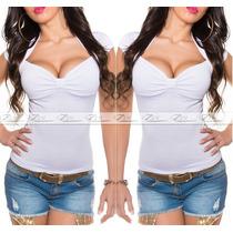 Blusa Feminina Cropped (n É Importado) Viscolycra S/renda