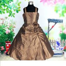 Vestido Infantil Festa /princesa/florista Tafetá Tam12/14,16