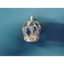 Coroa De Santo Filigrana Banhada A Ouro Exelente Estado