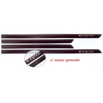 Jogo Friso Lateral C/nome Gravado Honda New Civic 07/11 Pto