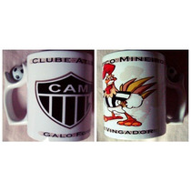 Canecas De Times - Atlético Mg - Alça De Bola De Futebol
