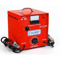 Carregador Bateria 12v E 24v 30ah C/amperimetro. 110v/220v.