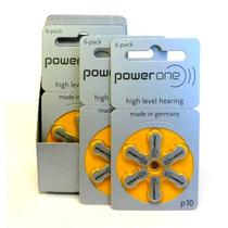 Caixa Com 60 Baterias Para Aparelho Auditivo Powerone, P10