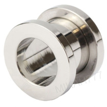 Par Alargador Piercing 10mm Aço Inox Cirúrgico 316l Prata