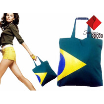 Bolsa De Tecido Bandeira Do Brasil Presente Olimpíadas 2016